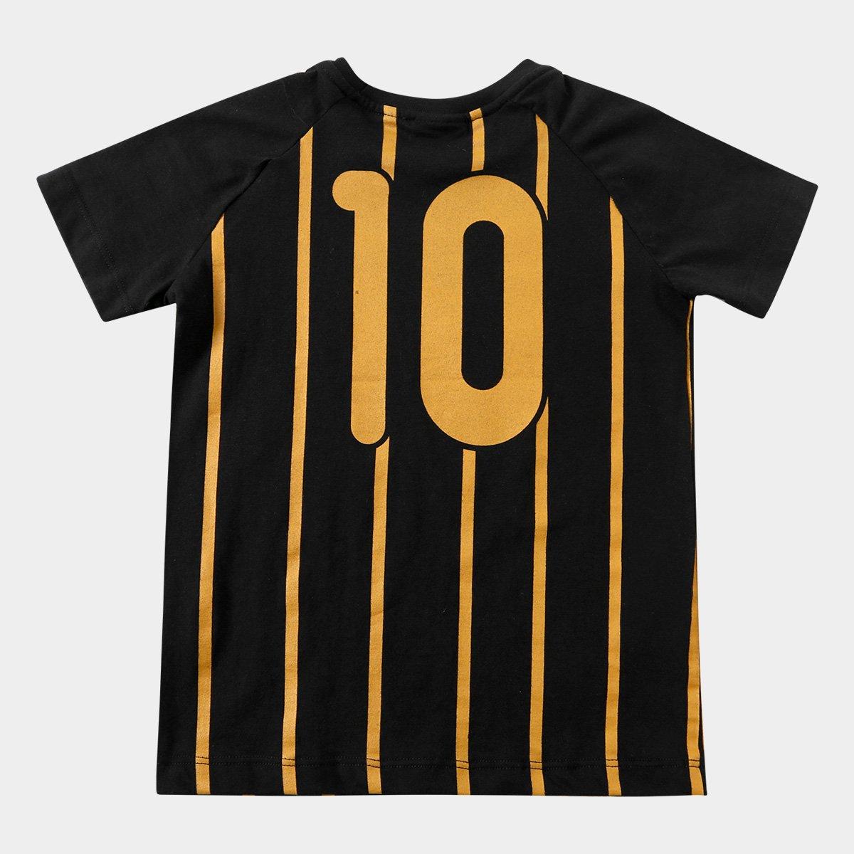 Camiseta Corinthians Infantil Gold  Camiseta Corinthians Infantil Gold f7fd434b0e5ed