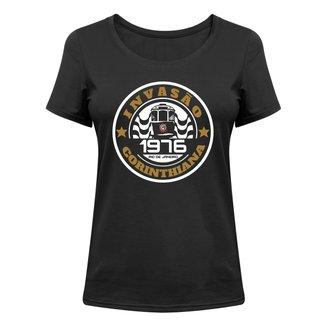Camiseta Corinthians Invasão Corinthiana 1976 Feminina