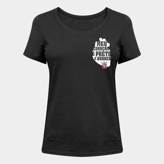 Camiseta Corinthians Meu Coração Feminina
