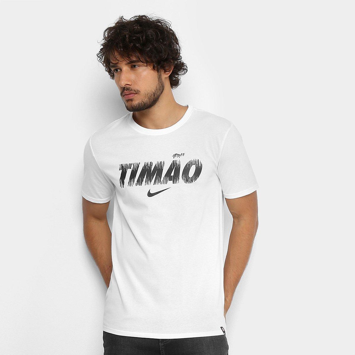 Camiseta Corinthians Nike Dry Masculina - Branco - Compre Agora ... 82091d85fec84
