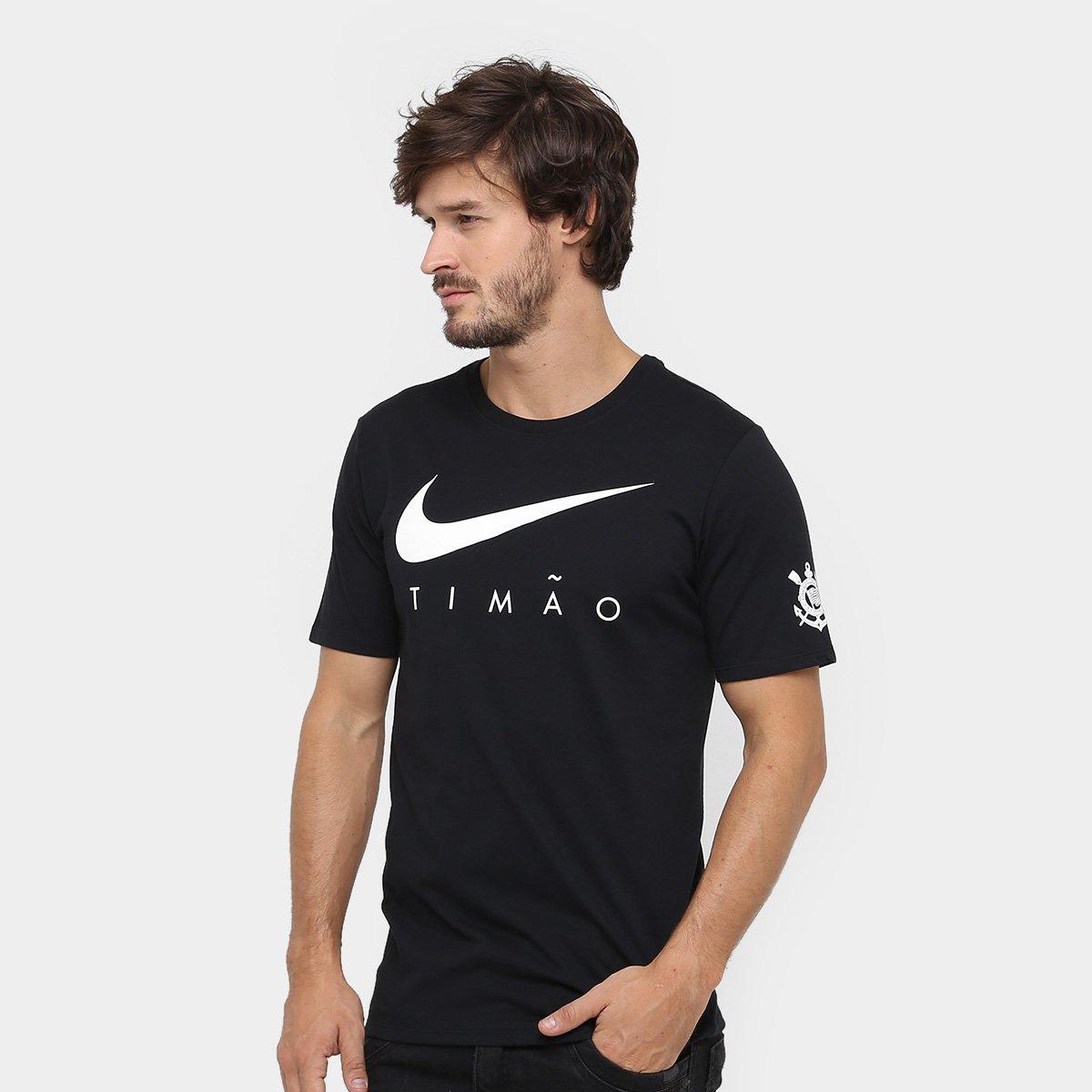 Camiseta Corinthians Nike Dry Pre-season Masculina - Compre Agora ... b40932ceae59e