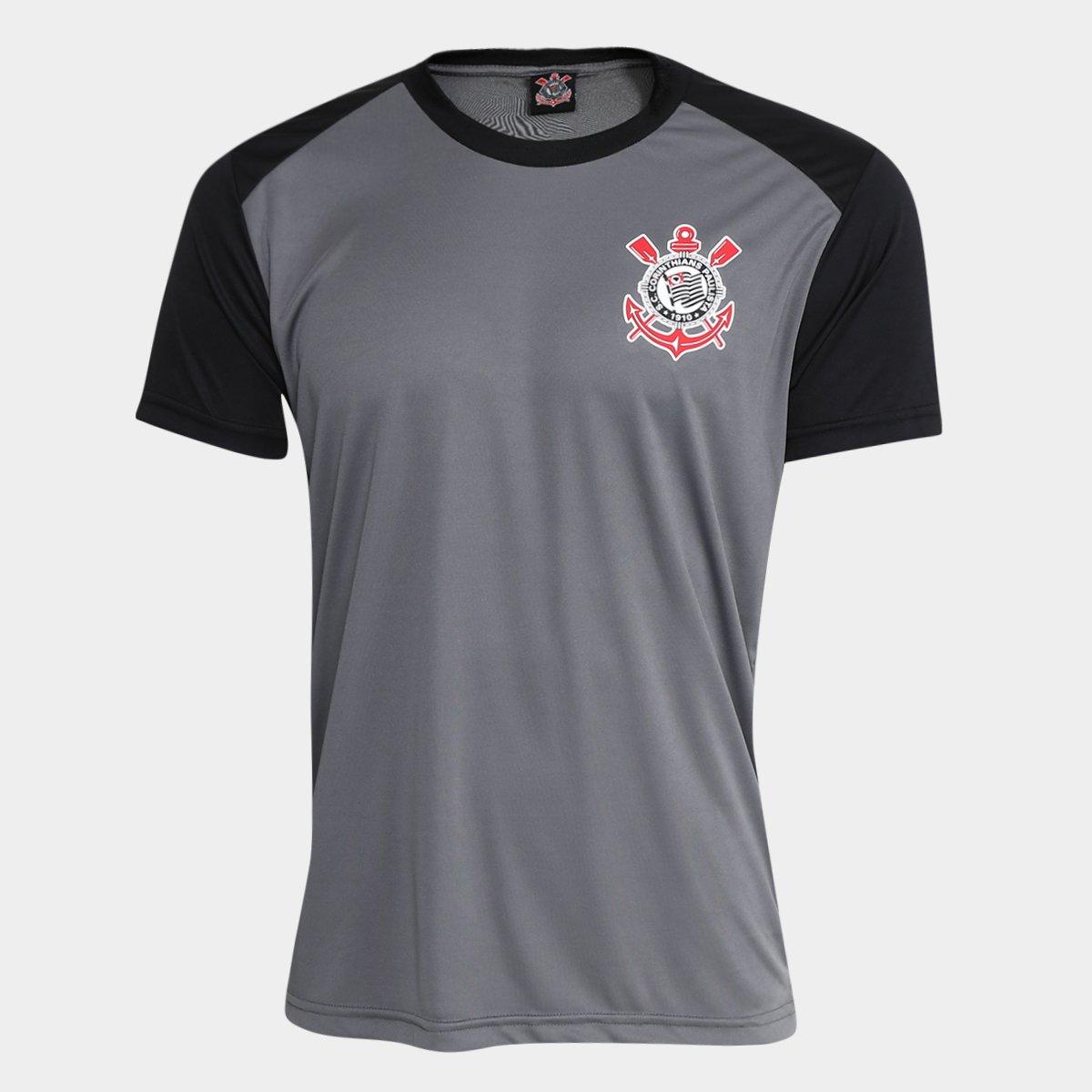 Camiseta Corinthians Oliver Masculina - Cinza e Preto - Compre Agora ... d3317609766fa
