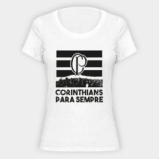 Camiseta Corinthians Para Sempre Feminina
