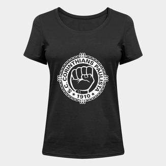 Camiseta Corinthians Punho Cerrado Feminina