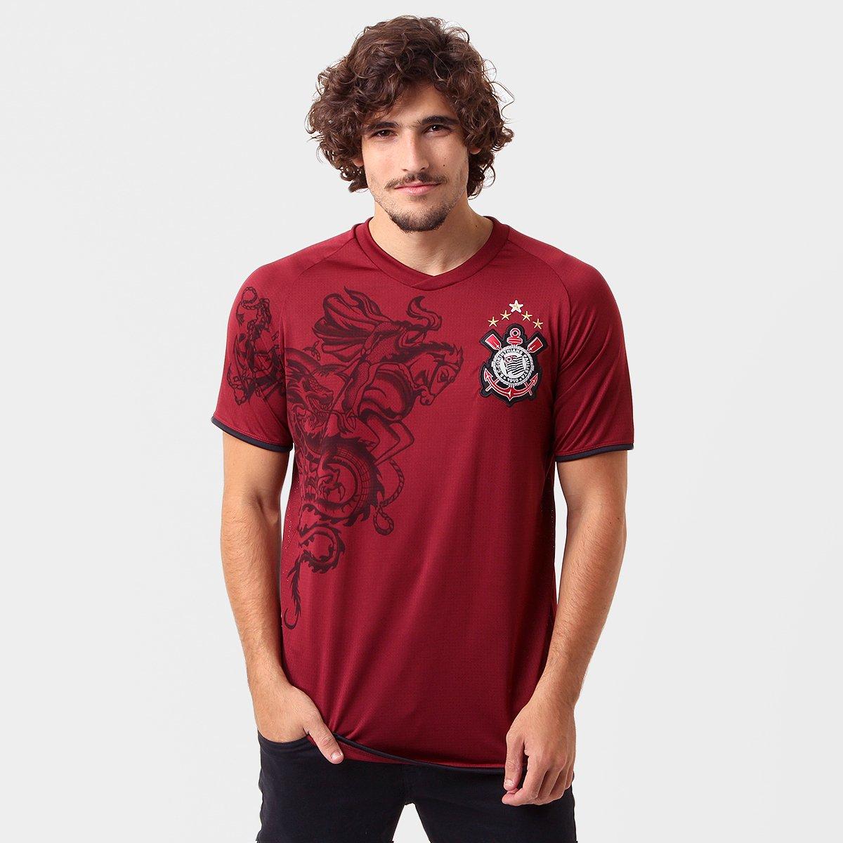 Camiseta Corinthians Réplica 2011 Grena Masculina - Compre Agora ... 86ca529e33f98