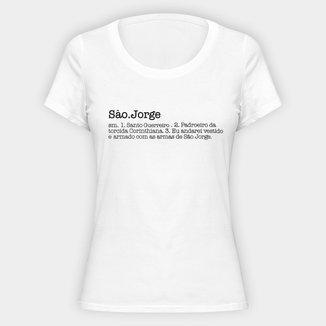 Camiseta Corinthians Santo Guerreiro Feminina