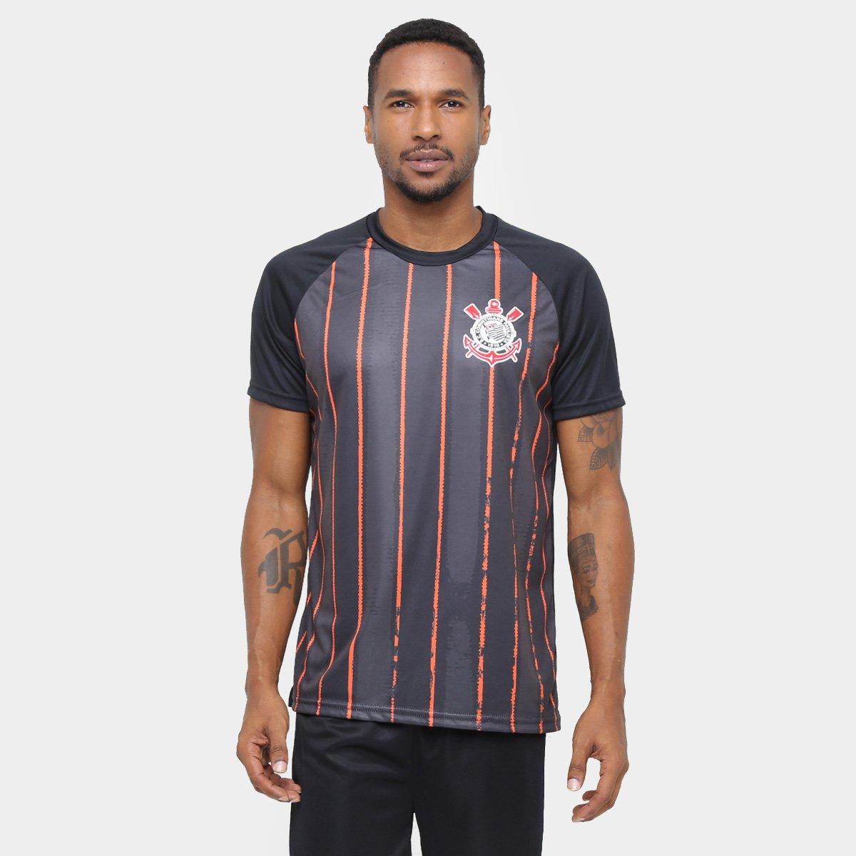 c6ac4013a Camiseta Corinthians Terrão Listras Masculina - Compre Agora