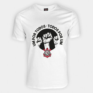 Camiseta Corinthians Todos Por Um Masculina