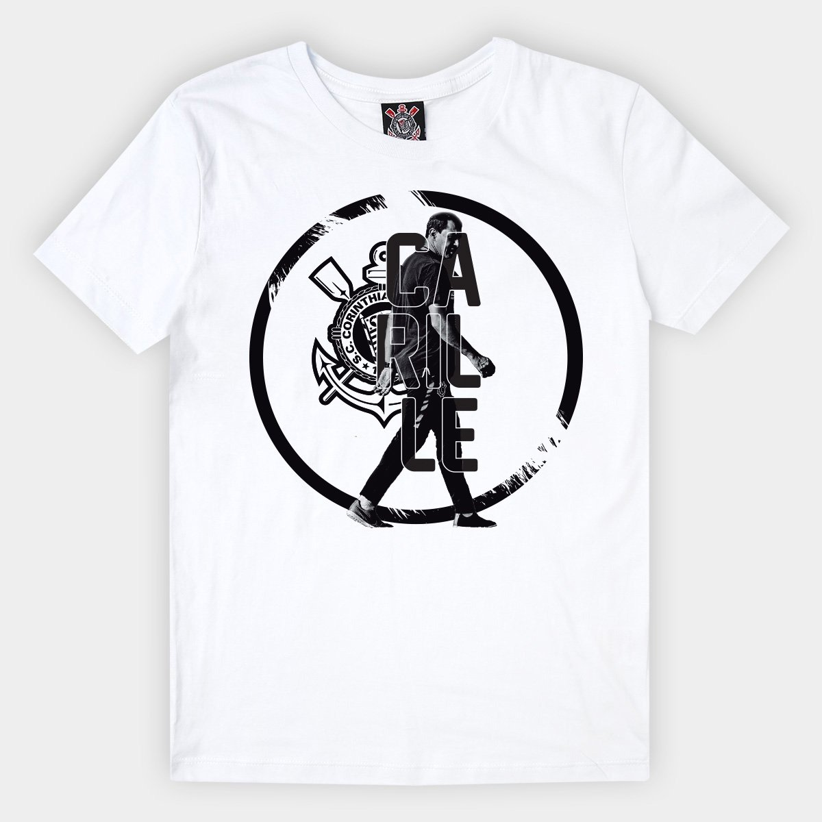 10bd7a40a4 Camiseta Infantil Corinthians Carille - Branco - Compre Agora