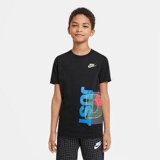Camiseta Infantil Nike Sportwear Exploded Masculina