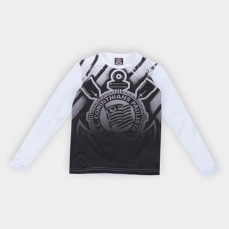 Camiseta Manga Longa Térmica Juvenil Corinthians