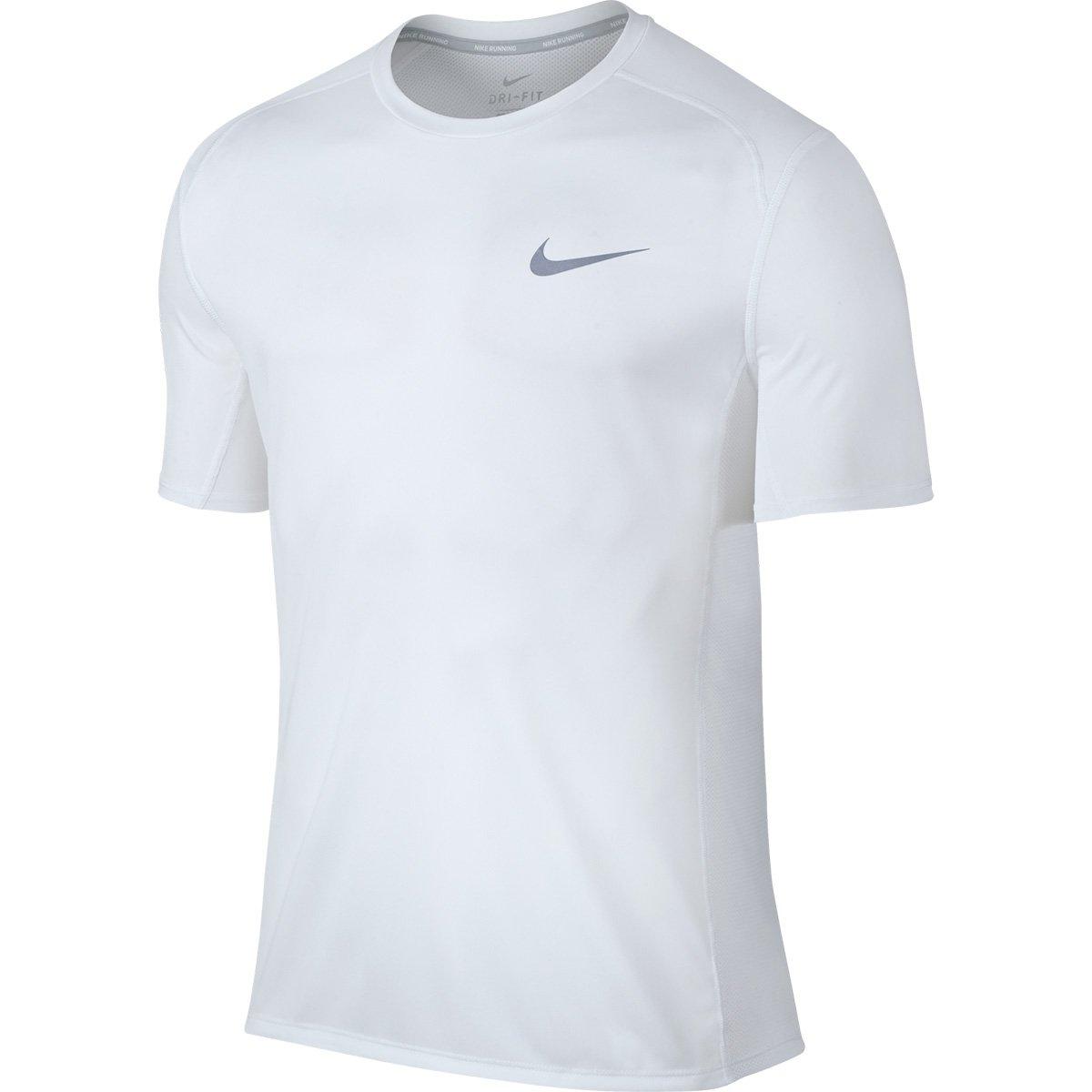 oferta disfruta del precio de descuento al por mayor Camiseta Nike Dri-Fit Miler Masculina - Branco