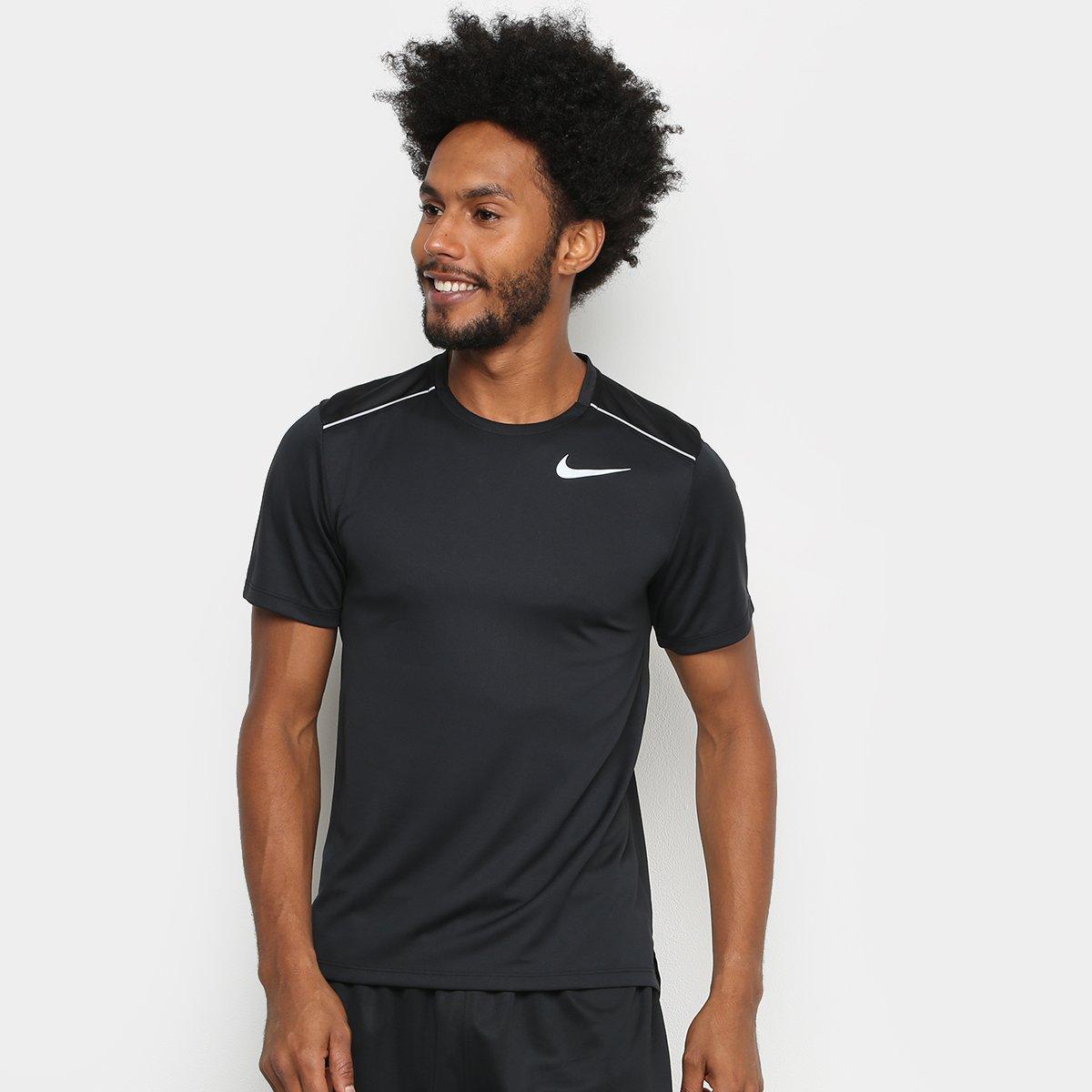 78cb3001f35 Camiseta Nike Dry Miler Ss Mascunina - Preto - Compre Agora