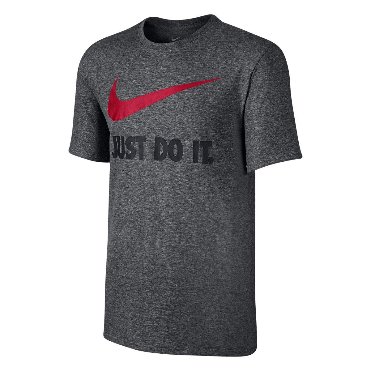 78e663450395b Camiseta Nike New Jdi Swoosh Masculina - Grafite - Compre Agora ...