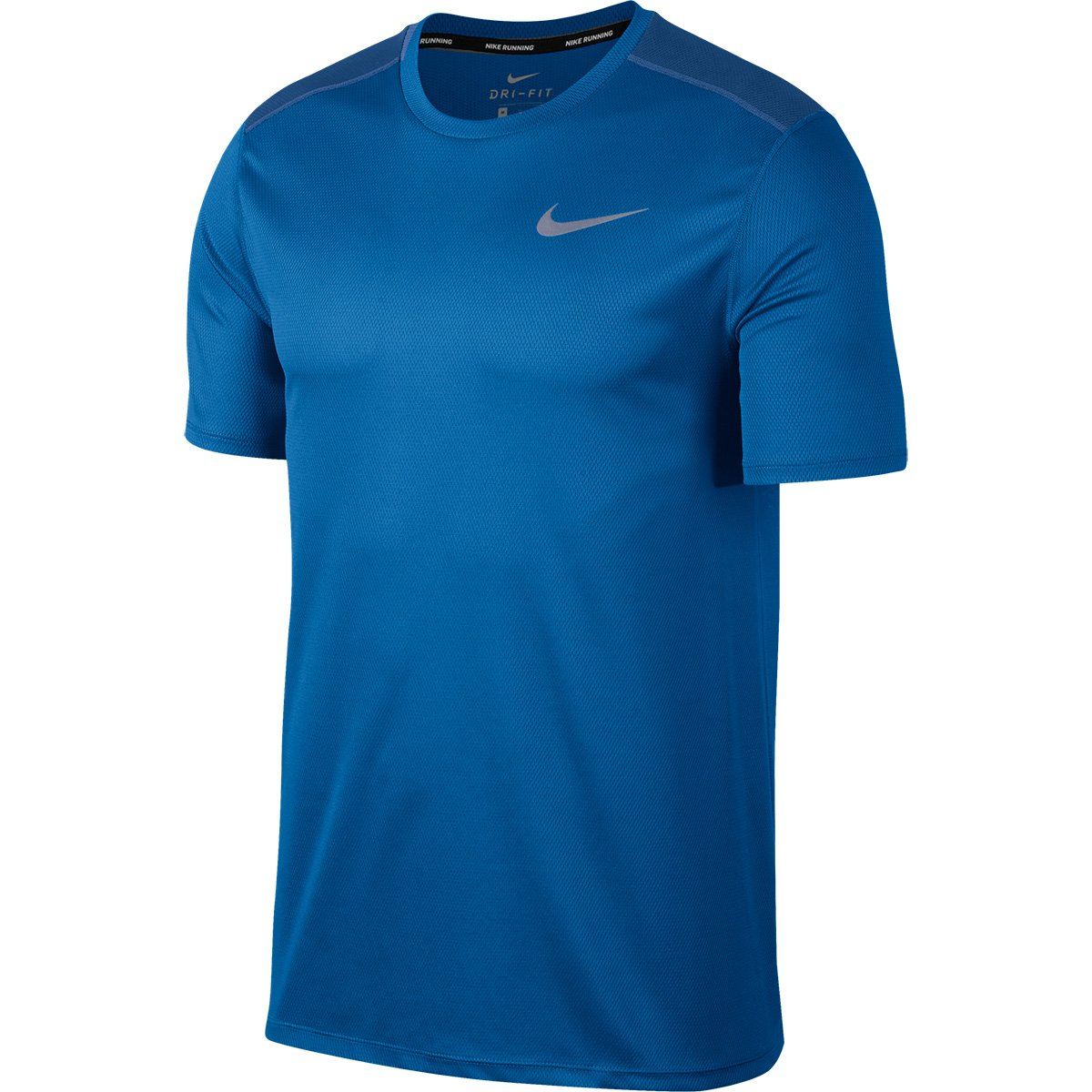 48ea40ee90a4a Camiseta Nike Run Ss Masculina - Azul e Azul claro - Compre Agora ...