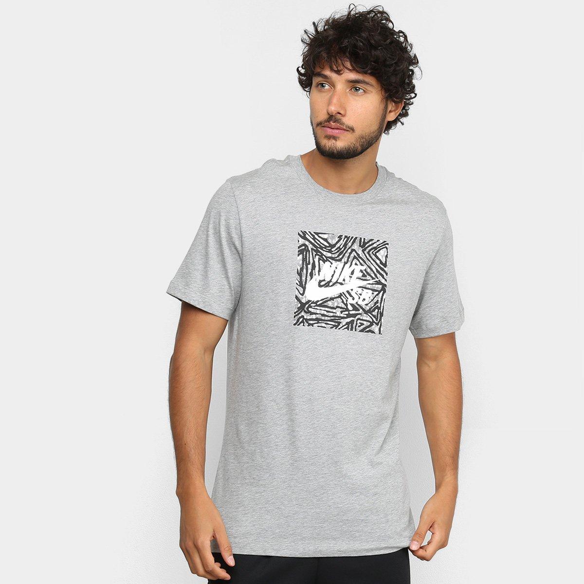 completo en especificaciones última selección sitio web para descuento Camiseta Nike Sb Triangl Masculina - Cinza | Shop Timão