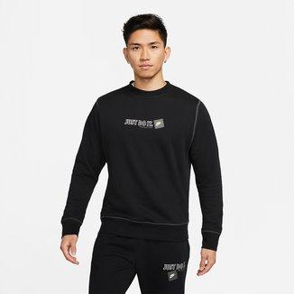 Camiseta Nike Sportwear Jdi Crew Manga Longa Masculina