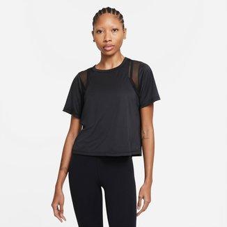 Camiseta Nike Yoga Dri-FIT Mesh Feminina
