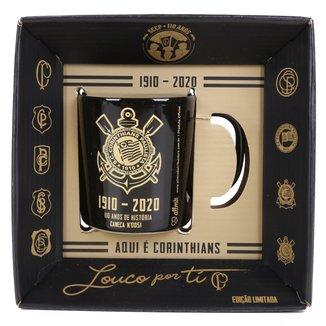 Caneca Porcelana Corinthians 110 Anos 300 ml