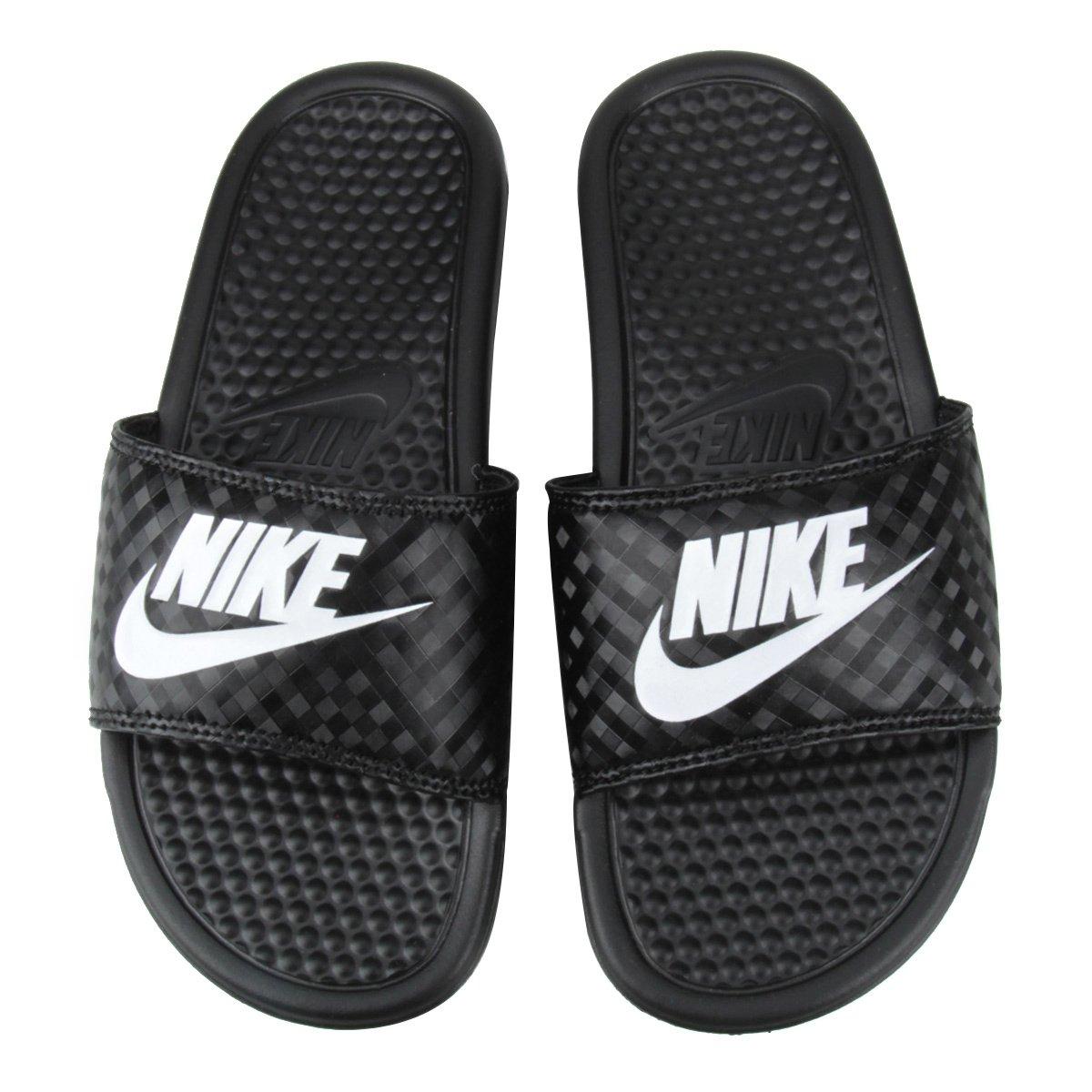 92259ba552a Chinelo Nike Benassi JDI Slide Feminina - Preto e Branco - Compre Agora