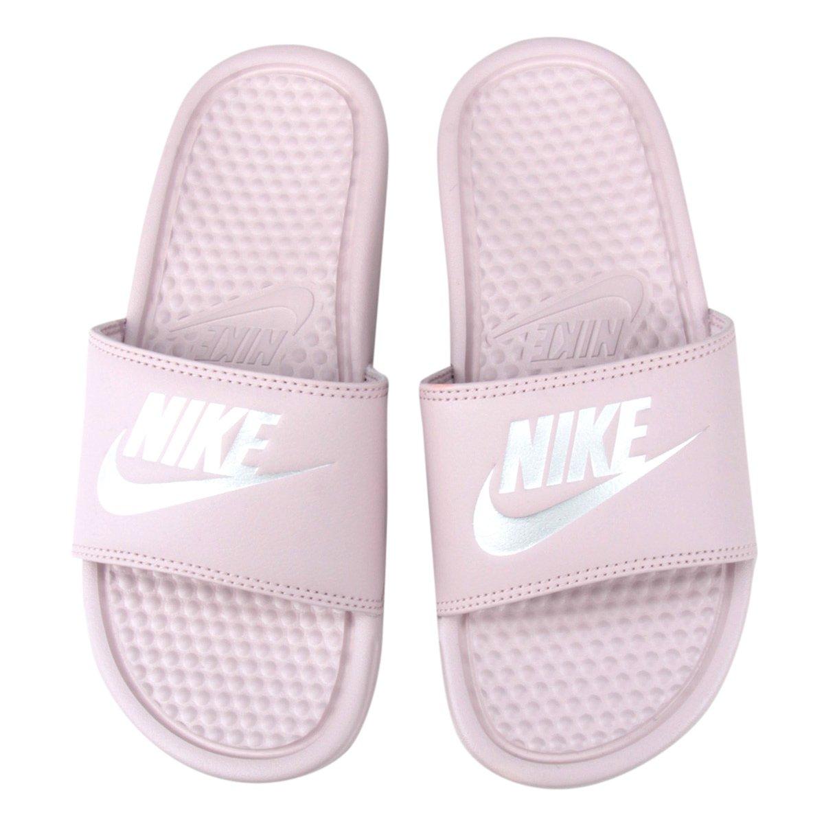 Chinelo Nike Benassi Jdi Slide Feminino Rosa E Cinza
