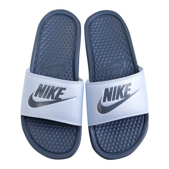 Chinelo Nike Benassi JDI Slide Feminino - Azul+Azul claro