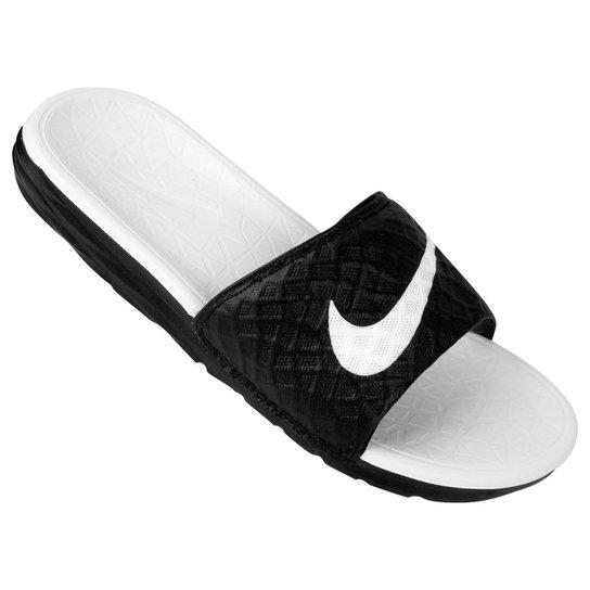 Chinelo Nike Benassi Solarsoft - Preto+Branco