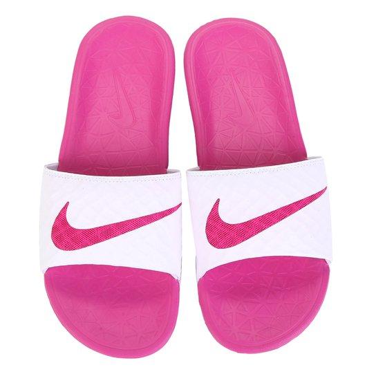 Chinelo Nike Benassi Solarsoft - Pink+Branco