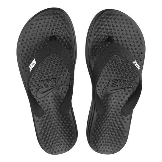 Chinelo Nike Solay Thong Masculino - Preto+Branco