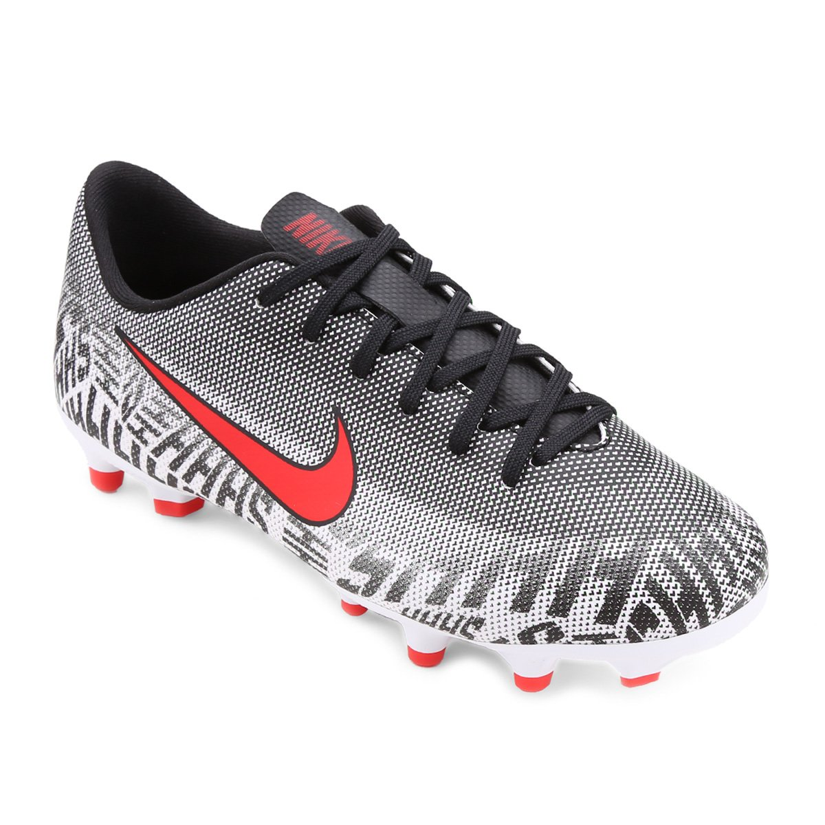 b3353855faac8 Chuteira Campo Infantil Nike Mercurial Vapor 12 Academy Gs Neymar Jr FG -  Branco e Vermelho - Compre Agora