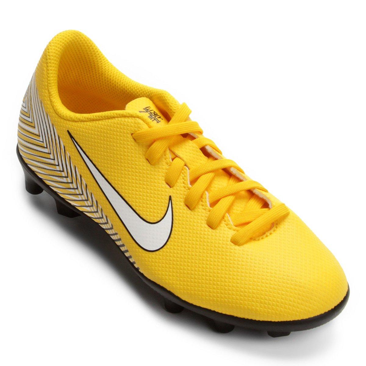 cc69e00cc Chuteira Campo Infantil Nike Mercurial Vapor 12 Club GS Neymar FG - Amarelo  e Preto