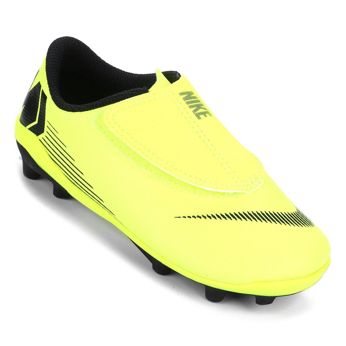 be591ba91d6ec Chuteira Campo Infantil Nike Mercurial Vapor 12 Club PS FG - Amarelo e Preto  - Compre Agora