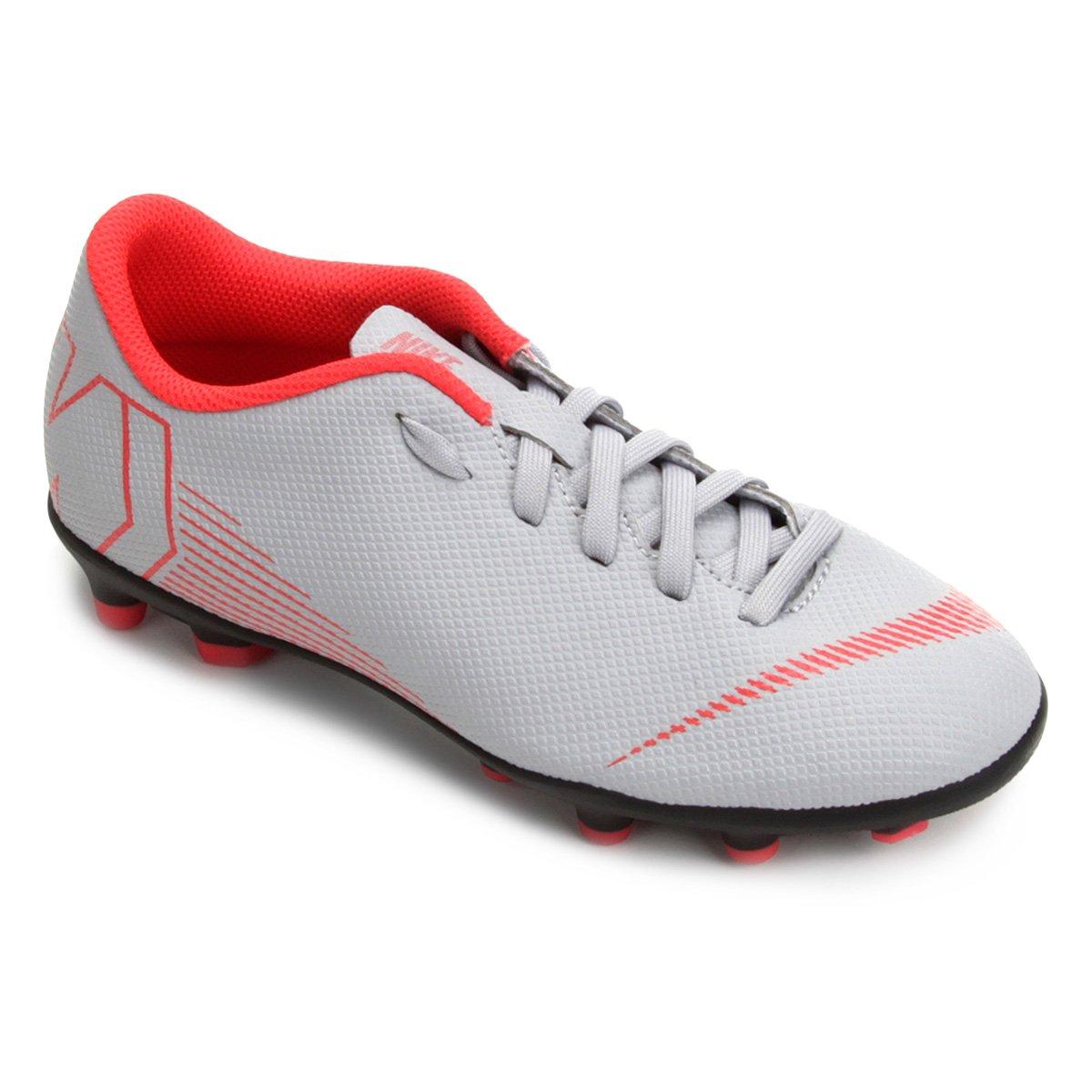 19f1c2dc11 Chuteira Campo Infantil Nike Mercurial Vapor 12 Club - Cinza e Preto ...