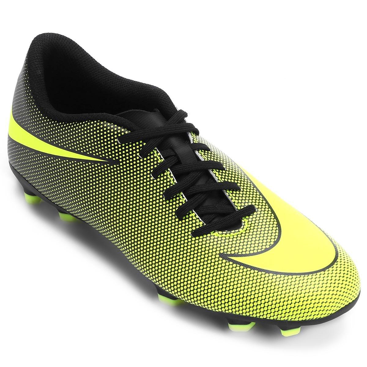 b4e86efff4e12 Chuteira Campo Nike Bravata 2 FG - Amarelo e Preto - Compre Agora ...