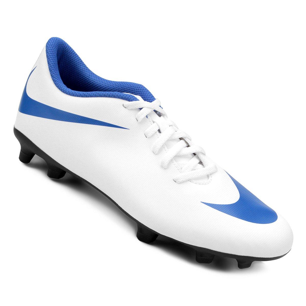 1209f4925e427 Chuteira Campo Nike Bravata 2 FG - Branco e Azul | Shop Timão