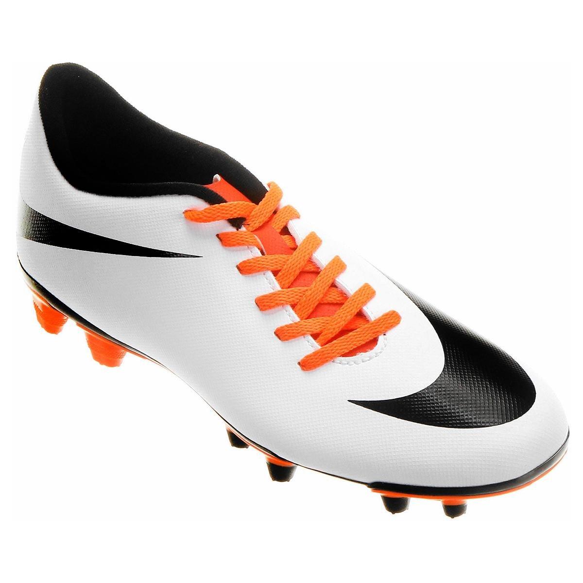 812ffe3e0cc0a Chuteira Campo Nike Bravata FG - Branco e Preto | Shop Timão