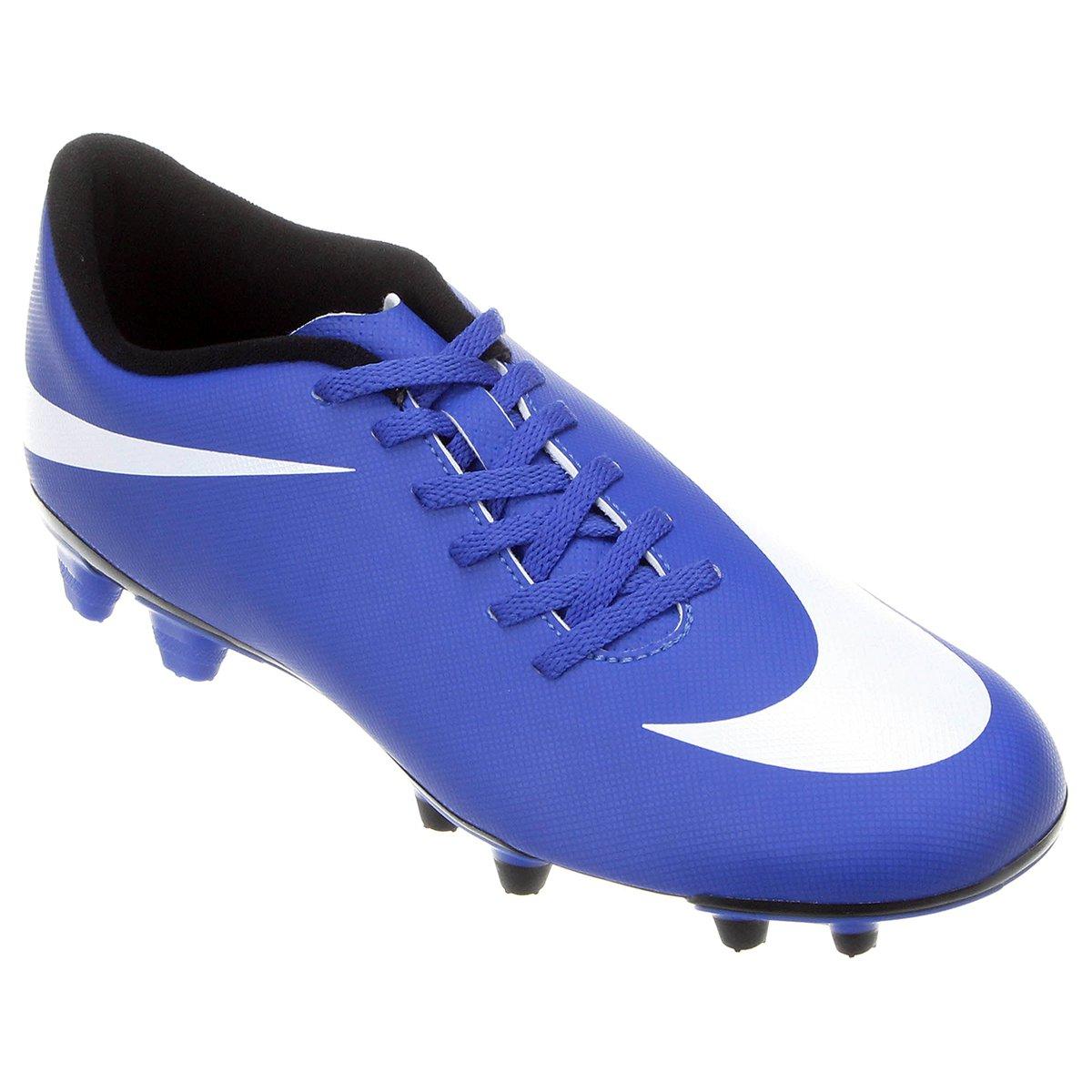 ced57de582584 Chuteira Campo Nike Bravata FG - Azul Royal e Branco | Shop Timão