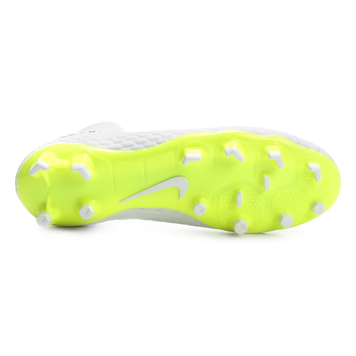 Chuteira Campo Nike Hypervenom Phantom 3 Academy DF FG - Branco e ... a81598081bcd6