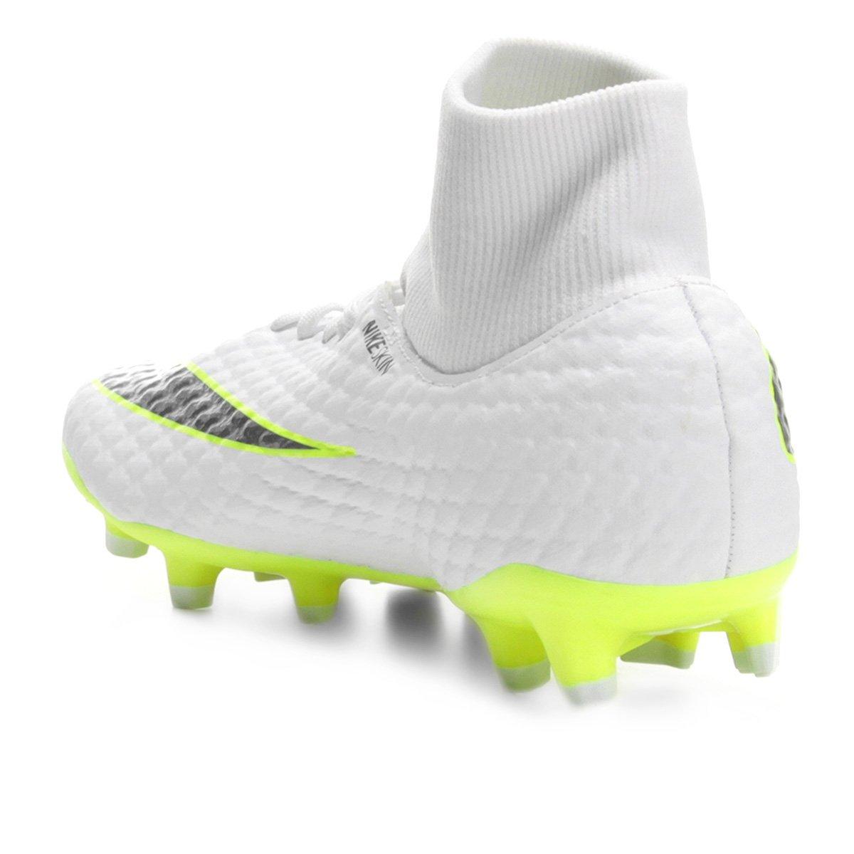 5a06436ae8 Chuteira Campo Nike Hypervenom Phantom 3 Academy DF FG - Branco e ...