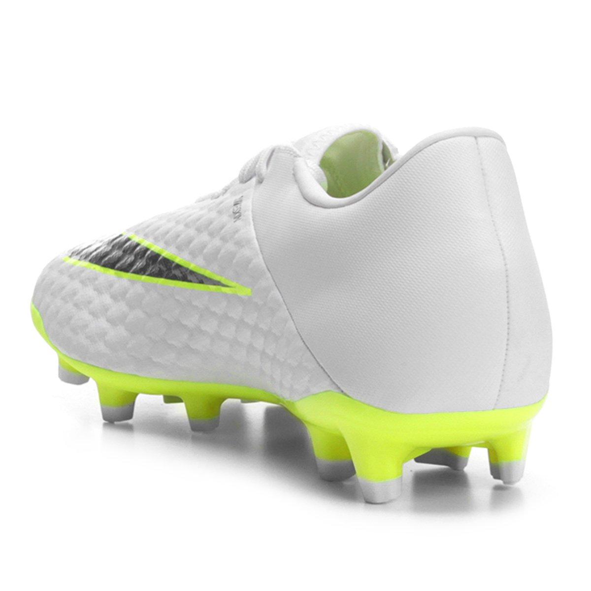 2df837a574 Chuteira Campo Nike Hypervenom Phantom 3 Academy FG - Branco e Cinza ...