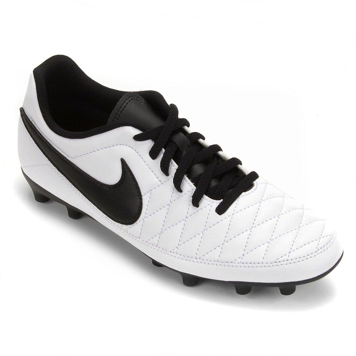 ... Chuteira Campo Nike Majestry FG Masculina - Branco e Preto - Compre ...  f6649cc809796a ... eef5355f56ec1