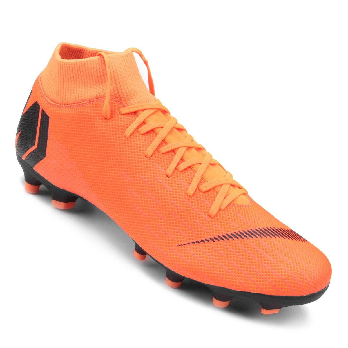 936b8fd03e9cf Chuteira Campo Nike Mercurial Superfly 6 Academy - Laranja e Preto | Shop  Timão