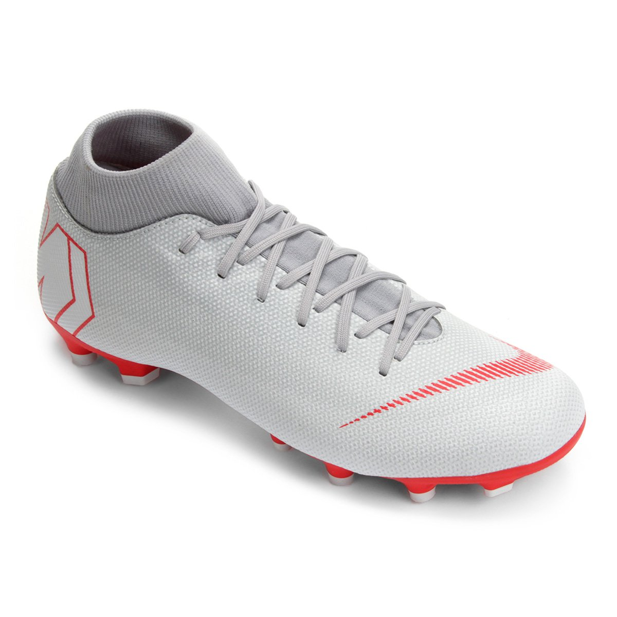 Chuteira Campo Nike Mercurial Superfly 6 Academy - Cinza - Compre ... 048f6f964518f