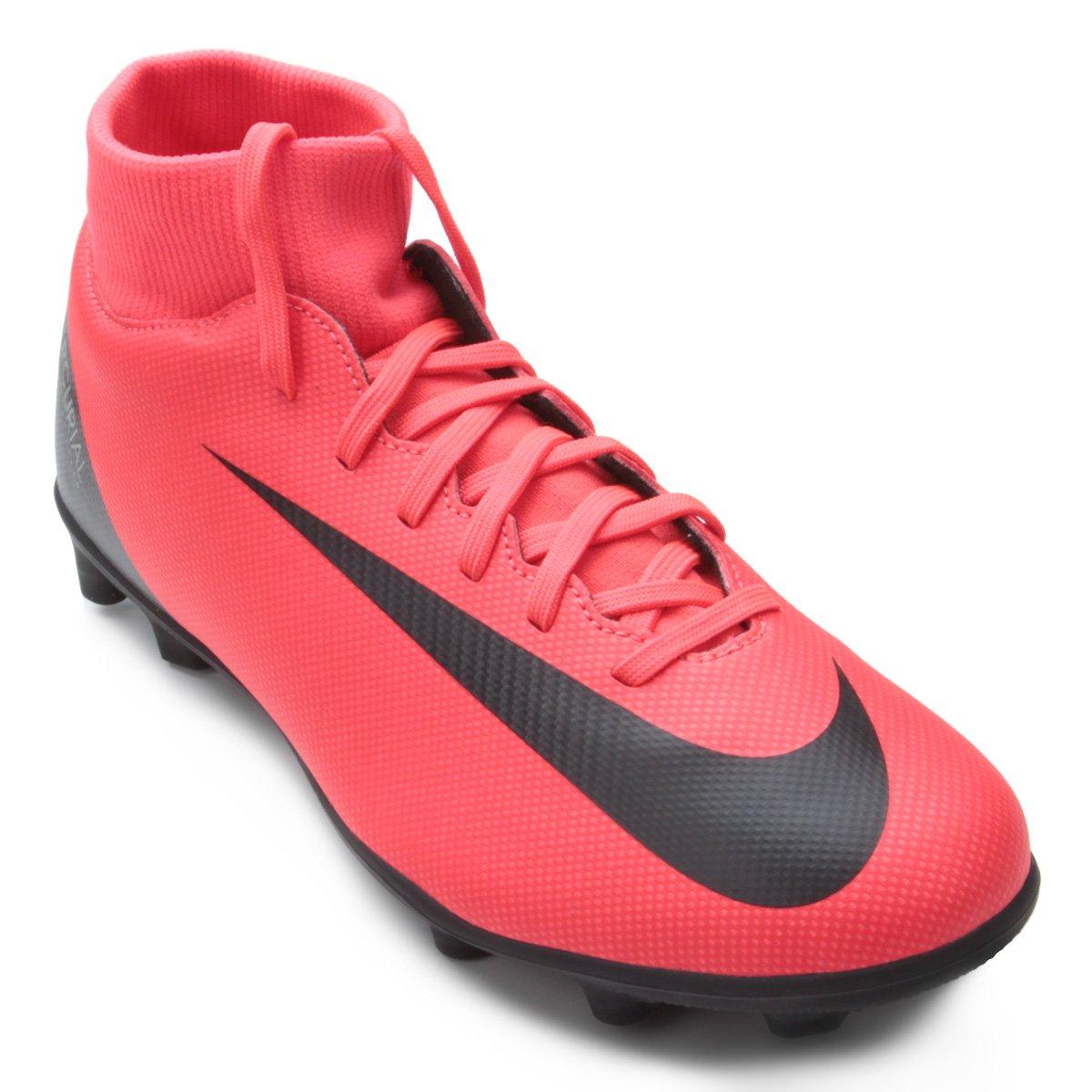 7acfde8811 Chuteira Campo Nike Mercurial Superfly 6 Club CR7 MG - Vermelho e ...