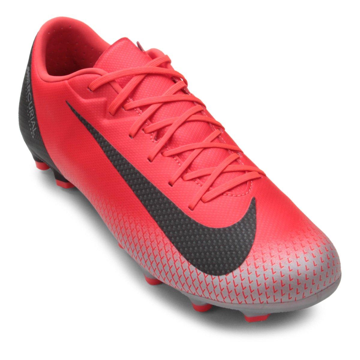 Chuteira Campo Nike Mercurial Vapor 12 Academy CR7 MG - Vermelho ... 3034689376761