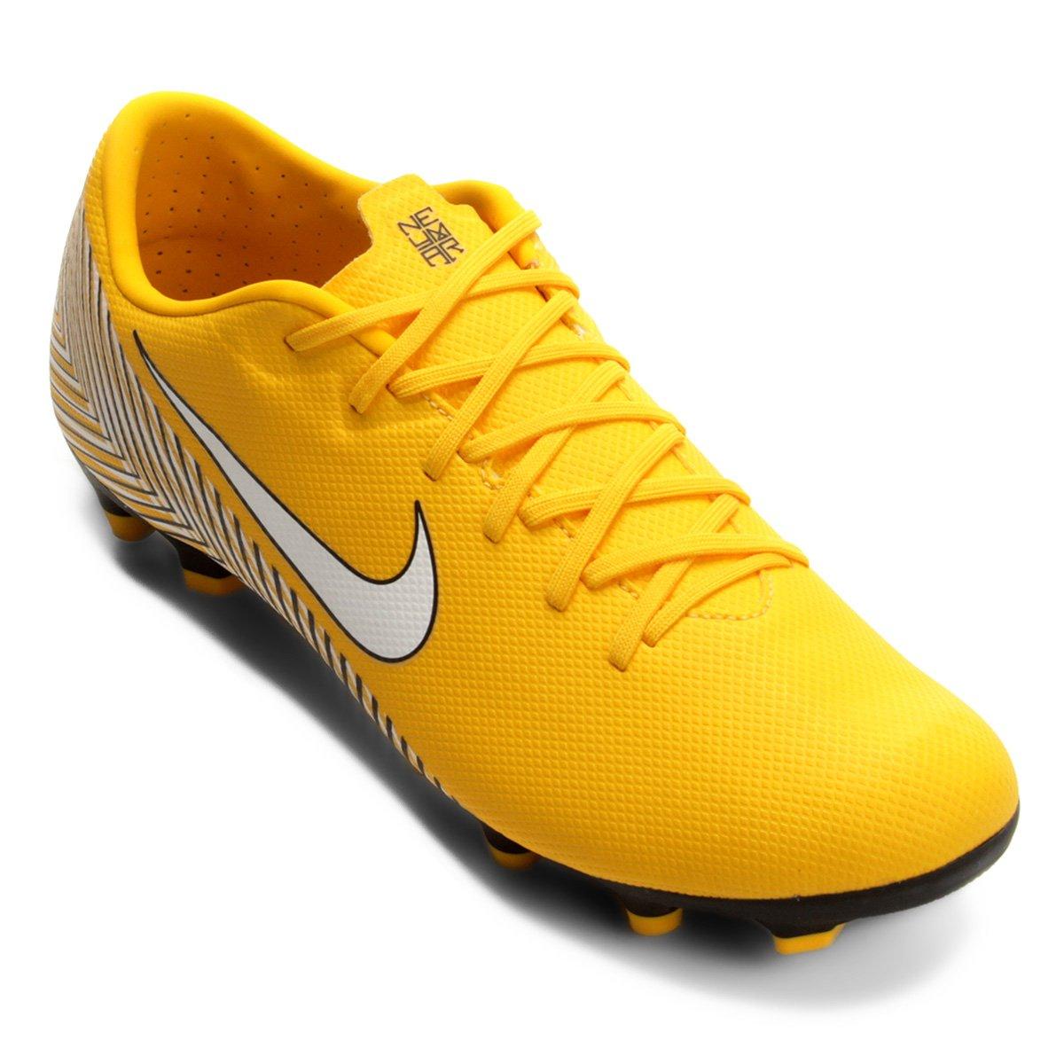 5b15b659b0 Chuteira Campo Nike Mercurial Vapor 12 Academy Neymar FG - Amarelo ...