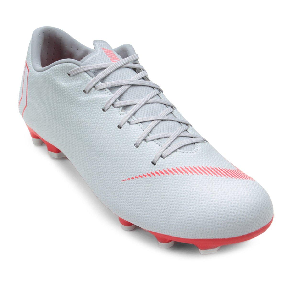 Chuteira Campo Nike Mercurial Vapor 12 Academy - Cinza - Compre ... 6947c6cca50b2