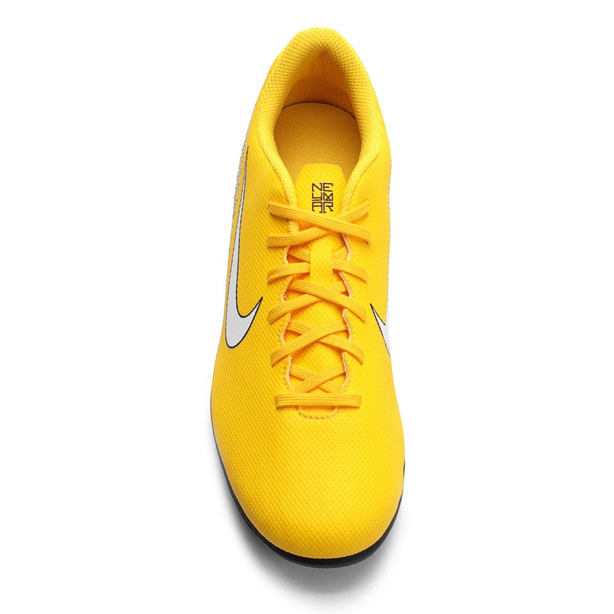 Chuteira Campo Nike Mercurial Vapor 12 Club Neymar FG - Amarelo e ... 78814de5548