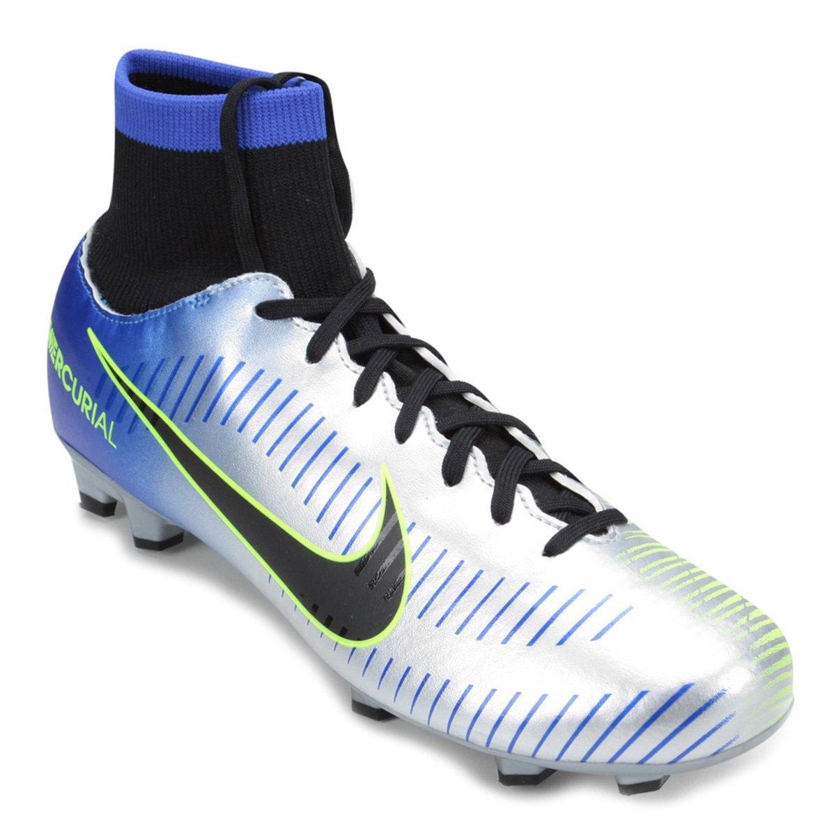 Chuteira Campo Nike Mercurial Victory 6 DF Neymar Jr FG - Azul e ... d49a1dc6e119e