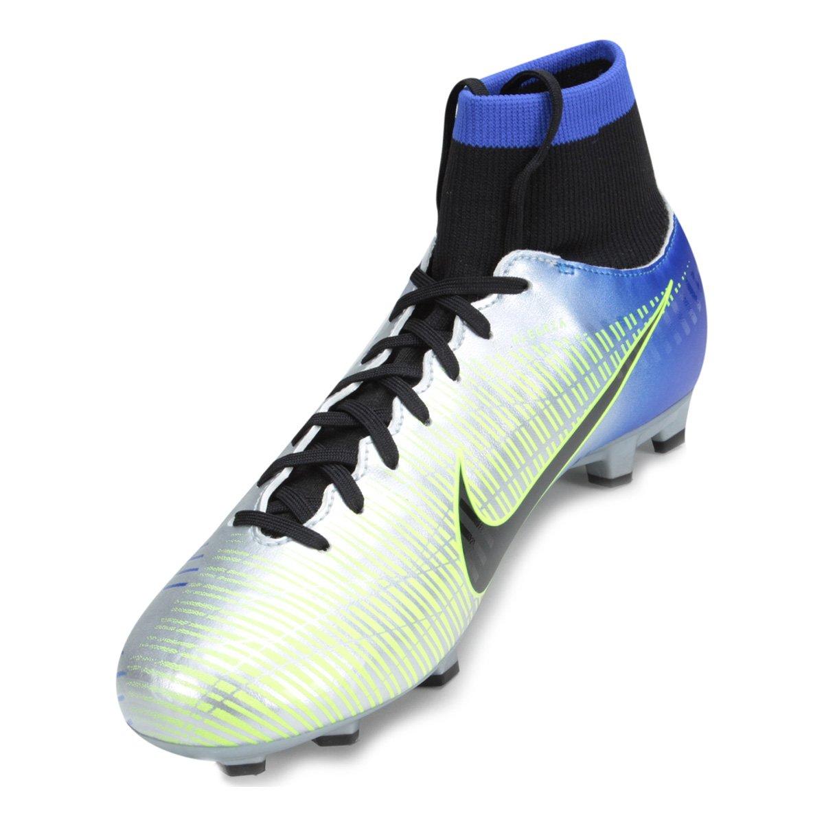 Chuteira Campo Nike Mercurial Victory 6 DF Neymar Jr FG - Azul e ... da61bc817b8ea